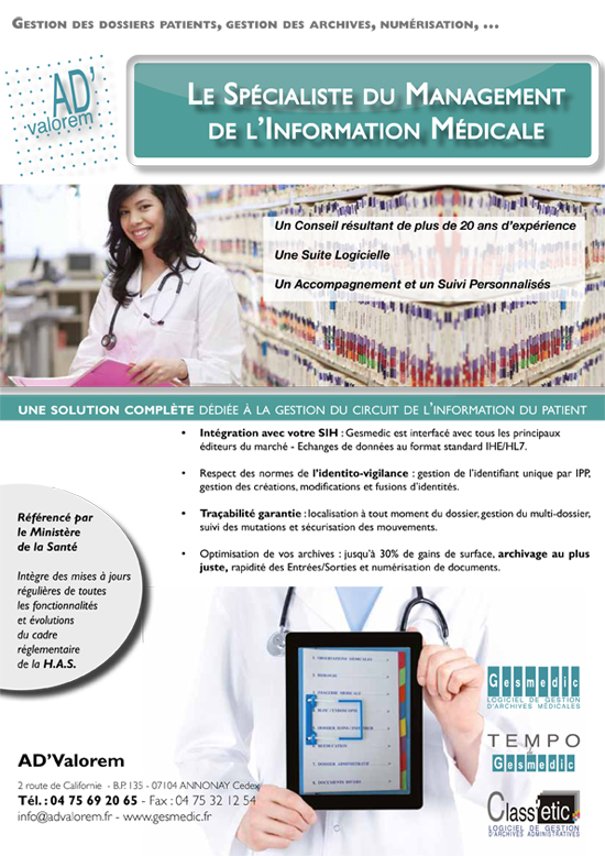 Gestion des dossiers patients : articles FHP