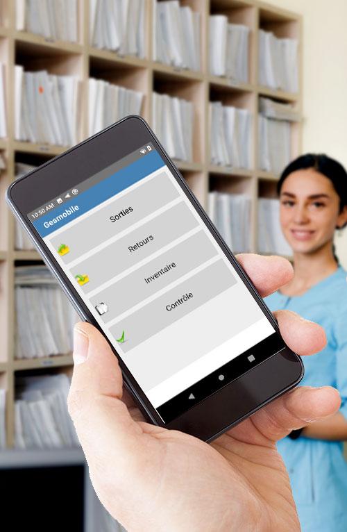 Application pour l'archivage des dossiers patients
